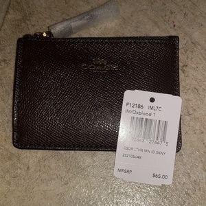 Coach Leather Mini Id Wallet